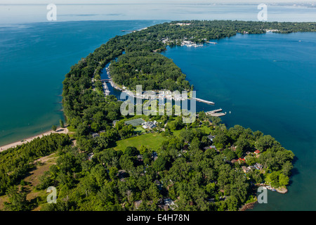 Toronto Islands from the air - Stock Photo