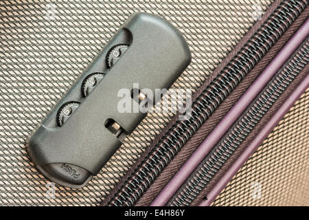Briefcase Luggage Latch And Lock Close Up - Stock Photo