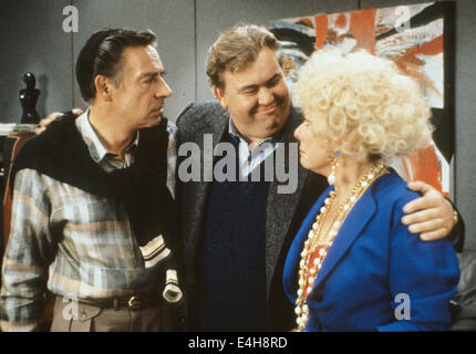 DELIRIOUS 1991 MGM film with from left Jerry Orbach, John Candy and Renee Taylor - Stock Photo