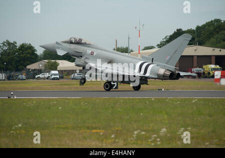 RAF Fairford, Gloucestershire UK. 11th July 2014. Eurofighter Typhoon FGR4 from RAF Coningsby complete with D Day - Stock Photo