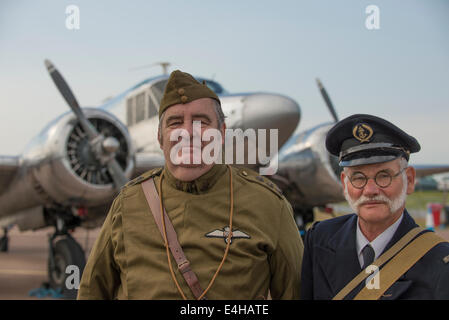RAF Fairford, Gloucestershire UK. 11th July 2014. Early 20th century military uniforms at RIAT. Credit:  Malcolm - Stock Photo