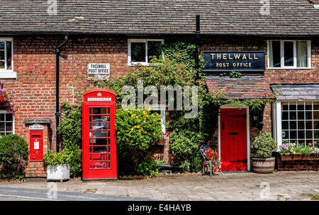 Former Post Office in the quiet village of Thelwall, Warrington, North Cheshire, England - Stock Photo