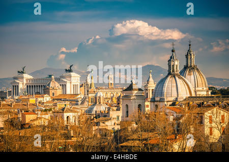 Aerial view of Rome - Stock Photo