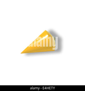 yellow plummet isolated on white background - Stock Photo