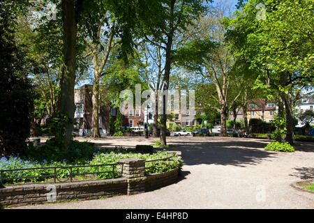 The beautiful Pond Square in Highgate, London. - Stock Photo