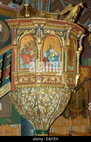 Griechenland, Rhodos, Laerma (Laermas), Kanzel in der Dorfkirche - Stock Photo