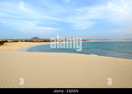 Praia de Chaves Beach in Boa Vista, Capo Verde, at Sunset - Stock Photo