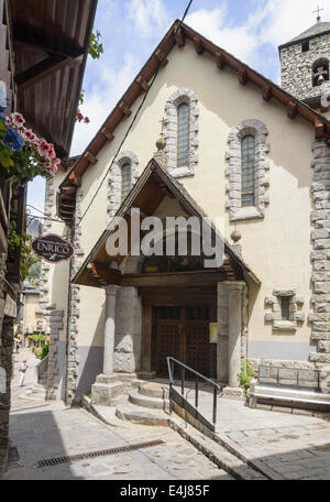 Church of Sant Esteve, Placa del Princep Benlloch, Andorra la Vella, Andorra - Stock Photo
