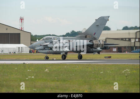 RAF Fairford, Gloucestershire UK. 11th July 2014. Fast jets on display at the first day of RIAT. RAF Panavia Tornado - Stock Photo