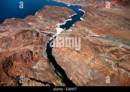 CLARK COUNTY, NV. - 21 SEPTEMBER 2011: The Hoover Dam when completed in 1939 was the world's largest hydroelectric - Stock Photo
