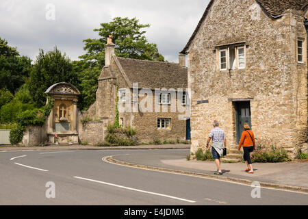 Lacock a picturesque village in Wiltshire England UK - Stock Photo