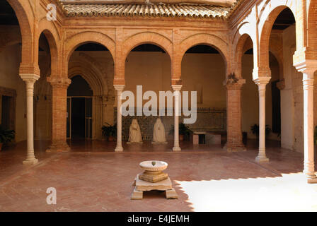 Patio in La Cartuja, an old monastery located Seville, Spain. - Stock Photo