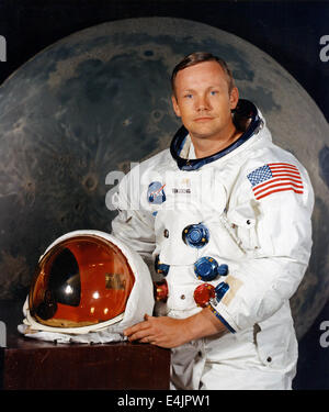 Neil Armstrong, portrait of Apollo 11 Commander Neil A. Armstrong - Stock Photo