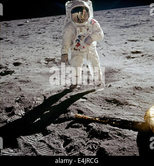 Buzz Aldrin poses for portrait with Neil Armstrong's ...