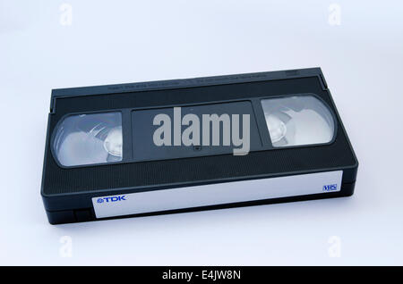 VHS video tape on white background - Stock Photo