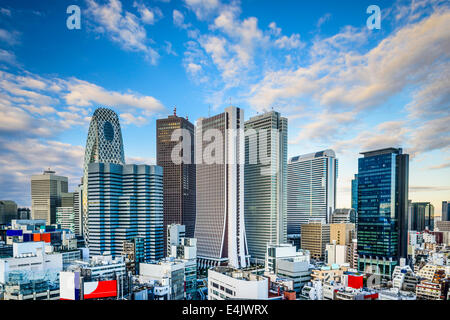 Shinjuku, Tokyo, Japan financial district cityscape. - Stock Photo