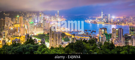 Hong Kong, China City Skyline - Stock Photo