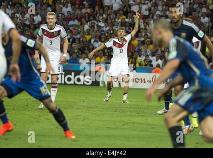 Rio De Janeiro, Brasil. 13th July, 2014. RIO DE JANEIRO-BRAZIL--13 July: Muller (ger) in match between Germany and - Stock Photo