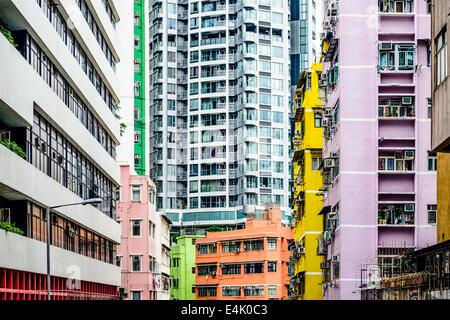 Abstract Buildings in Hong Kong, China. - Stock Photo