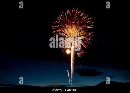 awesome fireworks spectacle. - Stock Photo