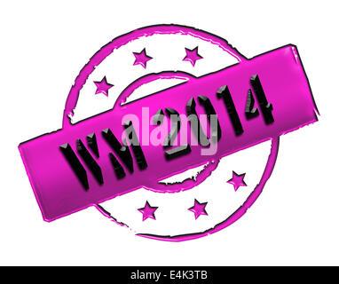 Stamp - WM 2014 - Stock Photo