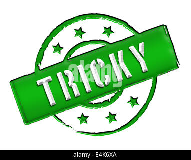 Stamp - TRICKY - Stock Photo