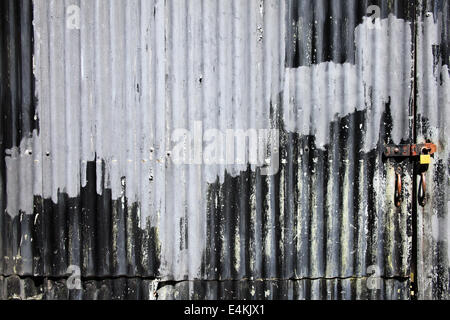 Corrugated Sheet Metal Wall With A Door The Street
