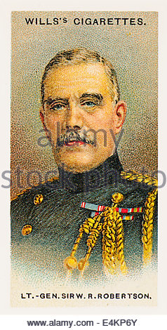 Wills cigarette card Lt General Sir William Robertson 1860-1933. EDITORIAL ONLY - Stock Photo