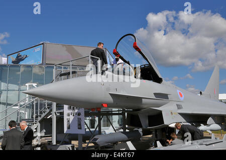 Eurofighter EF2000 Typhoon at the Farnborough International Airshow - Stock Photo
