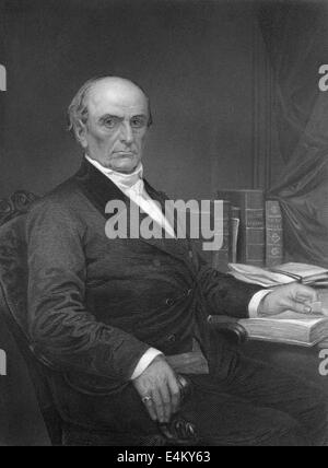 Daniel Webster, 1782 - 1852, a senator from Massachusetts - Stock Photo