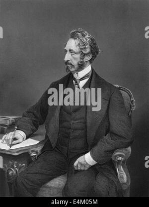 portrait of Edward George Earle Lytton Bulwer-Lytton, 1803 - 1873, an English politician, poet and playwright, - Stock Photo