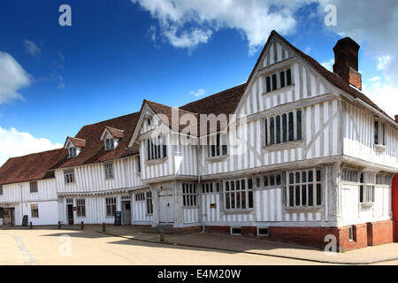 The Corpus Christi Guildhall, Market square, Lavenham village, Suffolk County, England, Britain. Built in the 16th - Stock Photo