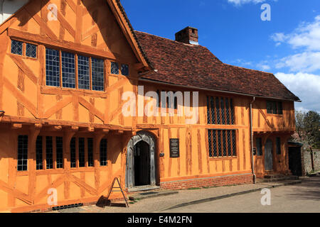 Little Hall Market square, Lavenham village, Suffolk County, England, Britain. - Stock Photo
