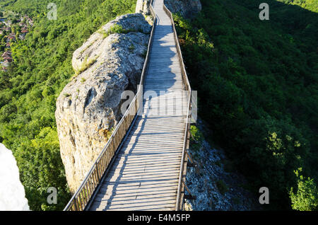 Wooden Bridge With Rock near Provadia - Stock Photo