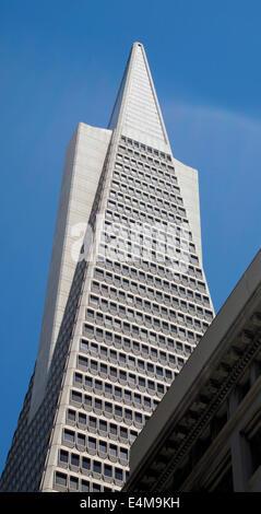 Transamerica Pyramid San Francisco California - Stock Photo