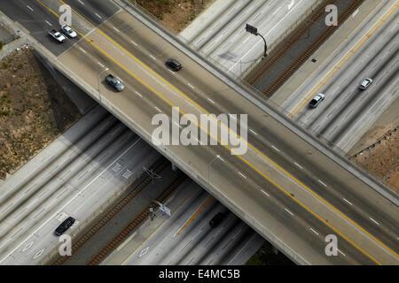 Interstate 105 or I-105, aka Glenn Anderson Freeway and Century Freeway, Holly Park, Los Angeles, California, USA - Stock Photo