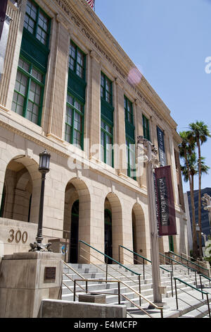 The Mob Museum Front Entry, National Museum of Organized Crime and Law Enforcement, Las Vegas, NV, USA - Stock Photo