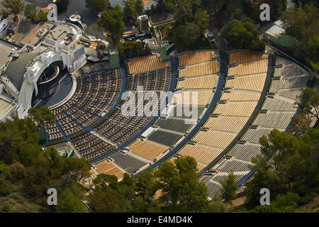 Hollywood Bowl, Hollywood, Los Angeles, California, USA - aerial - Stock Photo