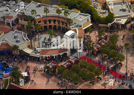 Universal Studios, Hollywood, Los Angeles, California, USA - aerial - Stock Photo