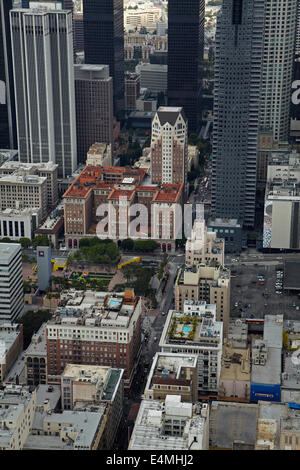 611 Place, Millennium Biltmore Hotel, Gas Company Building, and West 5th Street, Downtown Los Angeles, California, - Stock Photo