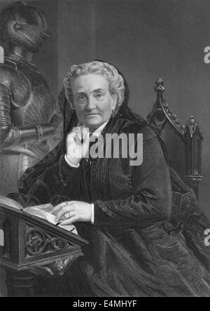 Charlotte Saunders Cushman, 1816 - 1876, an American stage actress - Stock Photo