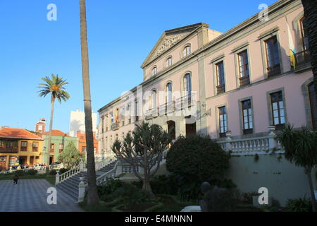 Town Hall of La Orotava - Ayuntamiento de La Orotava, Tenerife, Spain - Stock Photo