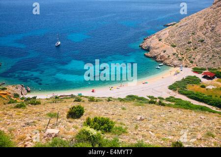 Beach Stara Baska - island Krk, Croatia - Stock Photo