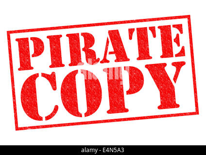 PIRATE COPY red Rubber Stamp over a white background. - Stock Photo
