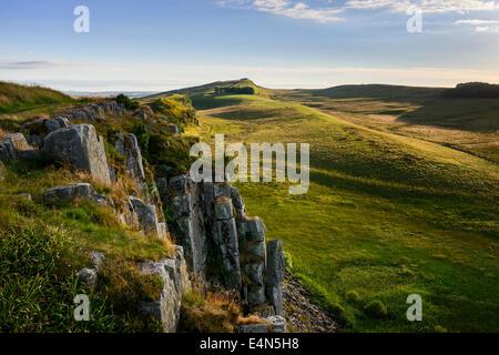 High Shield Crag - Stock Photo