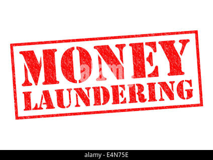 MONEY LAUNDERING red Rubber Stamp over a white background. - Stock Photo