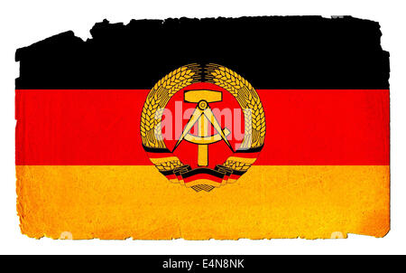 Grungy Flag - DDR - Stock Photo