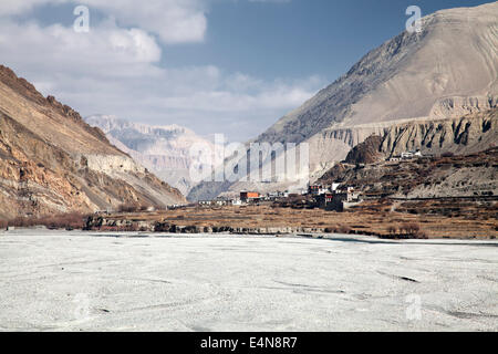 Jomsom to Kagbeni Trek, Mustang District, Annapurna, Himalayas, Nepal - Stock Photo