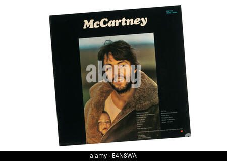 McCartney was first solo album by Paul McCartney. It was issued on Apple Records in April 1970. Photograph shows - Stock Photo