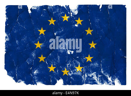Grungy Flag - EU - Stock Photo